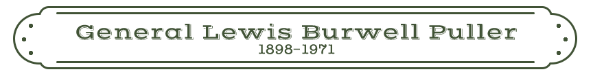 General Lewis Burwell Puller name Plate