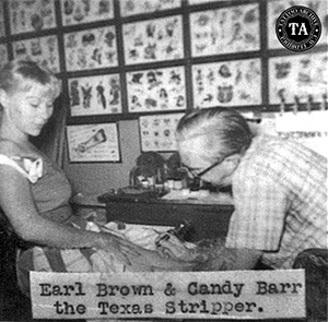 Earl Brown tattooing Cansy Barr
