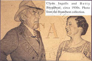 Clyde Ingalls and Betty Broadbent