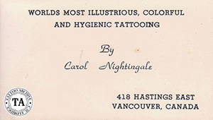 Carol Nightingale Tattoo