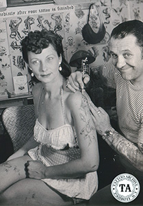 Jean Parker is with Les Skuse at the 1956 get-together.