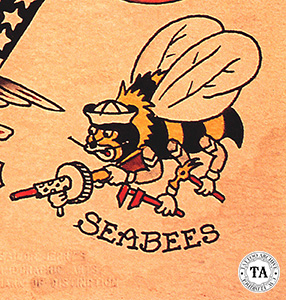 Sailor Jerry Collins design, in color, 1950s